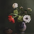Hugo Bussen - Still Life Of Flowers In...