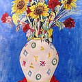 Esther Newman-Cohen - Sunflowers at Home