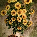 Carol Wisniewski - Sunflowers in a Vase