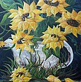 Eloise Schneider - Sunflowers in an Antique...