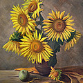 Gynt Art - Sunflowers in vase