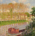 Sunset At Moret Sur Loing by Camille Pissarro