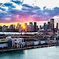 Rene Triay Photography - Sunset Thru Downtown...