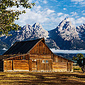 Kirk Strickland - Tetons with Barn and Bull