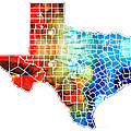 Sharon Cummings - Texas Map - Counties By...