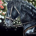 Persian Art - The Black Horse