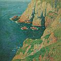 The Cliffs Of Stang Ile De Croix by Henry Moret