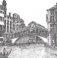 Carol Wisniewski - The Rialto Bridge bw