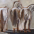 Peggy Judy - Three Andalusian Horses