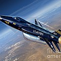 To The Edge of Space - The X-15 Print by Stu Shepherd