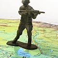 Toy Solider On Iraq Map by Amy Cicconi