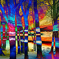 Mary Clanahan - Trees at Sunset Abstract...