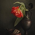Hugo Bussen - Tulip in tin vase and...