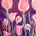 Patricia Taylor - Tulip Garden Pink and...