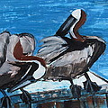 Betty Pieper - Two Pelicans Up Close...