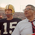 Vince Lombardi With Bart Starr by Retro Images Archive
