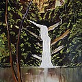 Jnana Finearts - Waterfalls in Deep forest