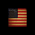 We The People - The Us Constitution With Flag - Square Black Border by Wingsdomain Art and Photography