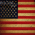 We The People - The Us Constitution With Flag - Square V2 by Wingsdomain Art and Photography