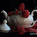 Luv Photography - White teapot with red...