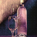 Tom Mc Nemar - Wine Bottle with Glasses