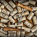 Paul Ward - Wine Corks on a Wooden...