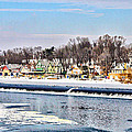 Winter At Boathouse Row In Philadelphia by Simon Wolter