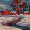 Kendall Kessler - Winter Barn Scene