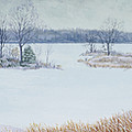 Winter Lake And Cedars by Garry McMichael