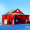 Luther   Fine Art - Winter Time Barn In Snow