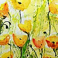 Ismeta Gruenwald - Yellow Poppys - Abstract...