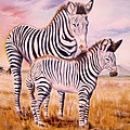 Thomas J Herring - Zebra and Foal