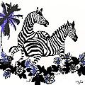 Saundra Myles - Zebras At Play
