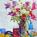 Andre MEHU - Lilies and piggy bank