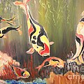 Rachel Carmichael - A School of Koi
