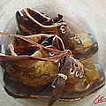 Colette V Hera  Guggenheim  - Ancient old Ski SHOES