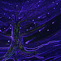 First Star Art  - Cosmic Tree Blue