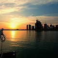 Paul Cowan - Doha Bay at sunset