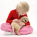 Girl With Puppy by Mark Taylor