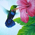 Christopher Cox - Green-throated Carib and...