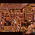 Tisha McGee - Old Time Wagon with Skull