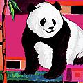 Alban Dizdari - Panda Abstrack Color...