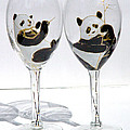 Pauline Ross - Pandas on glass