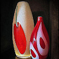 Joan  Minchak - Red and White Vases