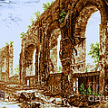 Ruins Of Roman Aqueduct, 18th Century by Science Source