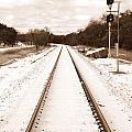 James Granberry - Snowy Railroad in Sepia