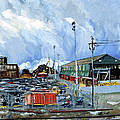 Asha Carolyn Young - Stormy Sky Over Shipyard...