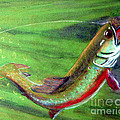 Merton Allen - Trout On - Pastel...