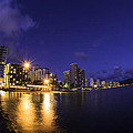 Eric Franke - Waikiki Fisheye by Night