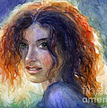 Svetlana Novikova - Watercolor Sunlit Woman...
